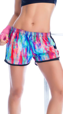 Photo of Watercolor Running Shorts @EX4.NL Exclusive Lingerie