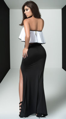 Photo of Feminine Top and Skirt Set @EX4.NL Exclusive Lingerie