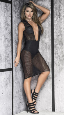 Photo of Hooded Mesh Dress @EX4.NL Exclusive Lingerie