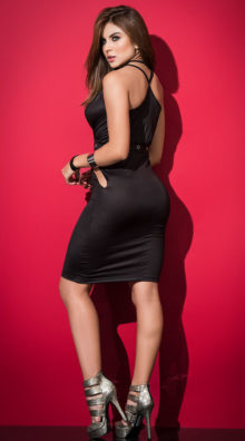 Photo of Studded and Strappy Black Dress @EX4.NL Exclusive Lingerie