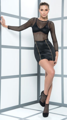 Photo of Edgy Fishnet Club Dress @EX4.NL Exclusive Lingerie