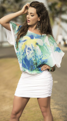 Photo of Tropical Ruched Dress @EX4.NL Exclusive Lingerie