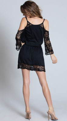 Photo of Cold Shoulder Black Crochet Dress @EX4.NL Exclusive Lingerie