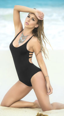 Photo of Strappy Racerback One Piece Swimsuit @EX4.NL Exclusive Lingerie