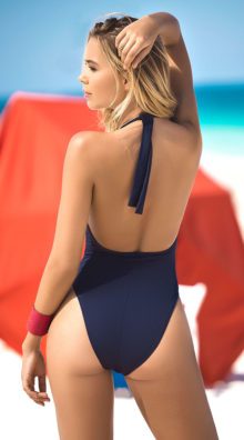 Photo of Nautical Navy One Piece Swimsuit @EX4.NL Exclusive Lingerie