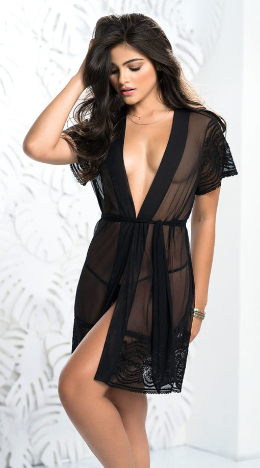 Photo of Embroidered Beauty Robe Set @EX4.NL Exclusive Lingerie
