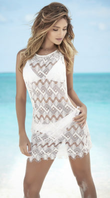 Photo of Frayed Wide Net Cover-Up @EX4.NL Exclusive Lingerie