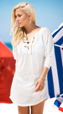 Photo of Ivory Lace-Up Beach Dress @EX4.NL Exclusive Lingerie