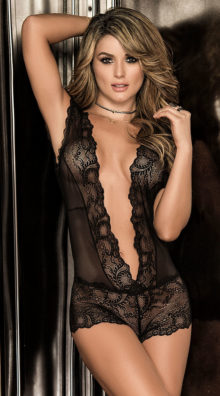 Photo of Take the Plunge Lace Bodysuit @EX4.NL Exclusive Lingerie