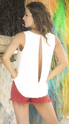 Photo of Chic Keyhole Tank Top @EX4.NL Exclusive Lingerie