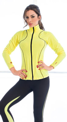 Photo of Two Tone Jersey Sports Jacket @EX4.NL Exclusive Lingerie