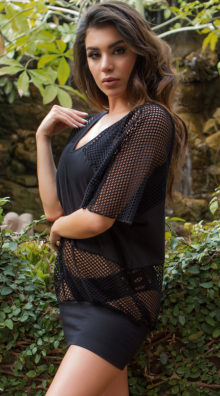 Photo of EX4 Fishnet Cover-Up Dress @EX4.NL Exclusive Lingerie