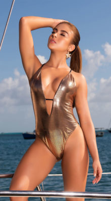 Photo of EX4 The Kylie Metallic One Piece @EX4.NL Exclusive Lingerie