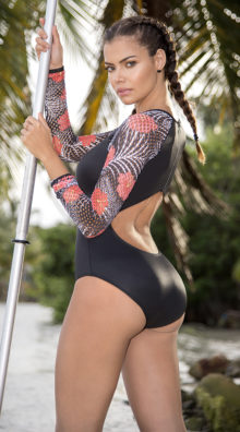 Photo of EX4 Sporty Tropical One Piece Swimsuit @EX4.NL Exclusive Lingerie