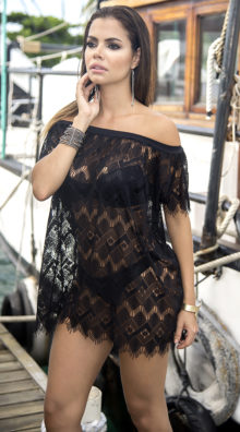 Photo of EX4 Off-The-Shoulder Crochet Cover-Up @EX4.NL Exclusive Lingerie