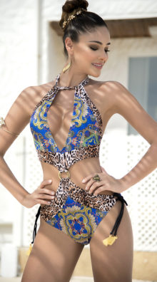 Photo of EX4 Embroidered Leopard Monokini @EX4.NL Exclusive Lingerie