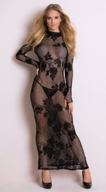 Photo of Long Sleeve Lace Gown @EX4.NL Exclusive Lingerie