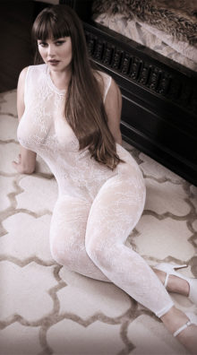 Photo of Plus Size Worth The Wait Floral Bodystocking @EX4.NL Exclusive Lingerie