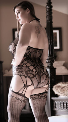 Photo of Plus Size Goodnight Kiss Garter Bodystocking @EX4.NL Exclusive Lingerie
