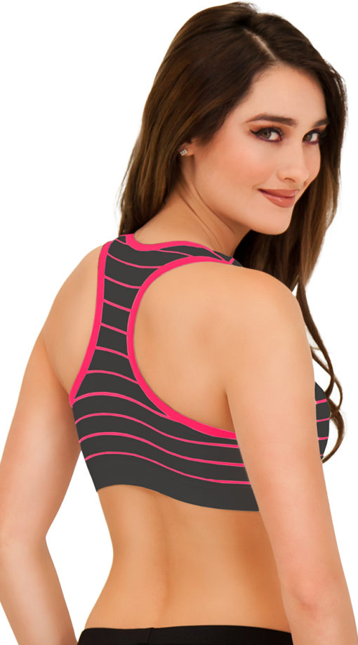 Photo of Plus Size Underwire Striped Push Up Sports Bra @EX4.NL Exclusive Lingerie