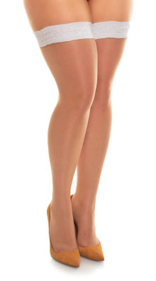 Photo of Plus Size Diamond Top Thigh Highs @EX4.NL Exclusive Lingerie