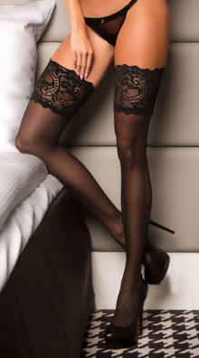 Photo of Plus Size Wide Lace Top Thigh Highs @EX4.NL Exclusive Lingerie