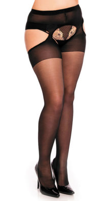 Photo of Plus Size Sheer Suspender Pantyhose @EX4.NL Exclusive Lingerie