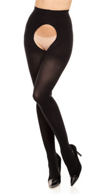 Photo of Ouvert 60 Crotchless Tights @EX4.NL Exclusive Lingerie