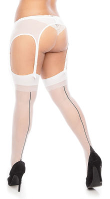 Photo of Plus Size Seamed Thigh Highs @EX4.NL Exclusive Lingerie