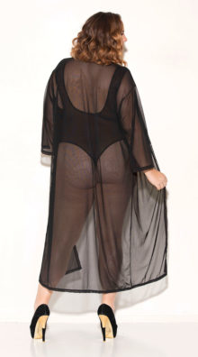Photo of Plus Size Buy Some Time Mesh Robe @EX4.NL Exclusive Lingerie