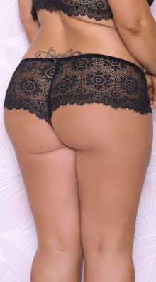 Photo of Plus Size Lacy Black Hipster Panty @EX4.NL Exclusive Lingerie