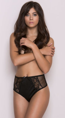 Photo of Black High Waisted Mesh and Lace Panty @EX4.NL Exclusive Lingerie