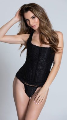 Photo of Brocade Racerback Corset Set @EX4.NL Exclusive Lingerie