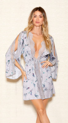 Photo of Soft Hums Satin Robe @EX4.NL Exclusive Lingerie