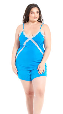 Photo of Plus Size Smooth Sailing Cami Set @EX4.NL Exclusive Lingerie