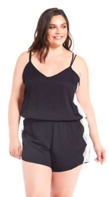 Photo of Plus Size Lazy Sundays Satin Romper @EX4.NL Exclusive Lingerie