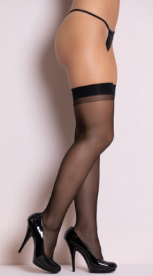 Photo of Basic Sheer Black Thigh Highs @EX4.NL Exclusive Lingerie