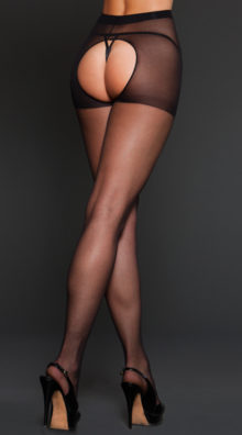 Photo of Sheer Spandex Crotchless Pantyhose @EX4.NL Exclusive Lingerie
