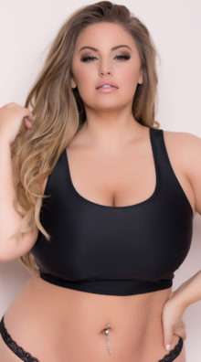 Photo of Plus Size Basic Cropped Tank Top @EX4.NL Exclusive Lingerie