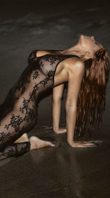 Photo of Two Piece Spanish Rose Lace Long Dress @EX4.NL Exclusive Lingerie