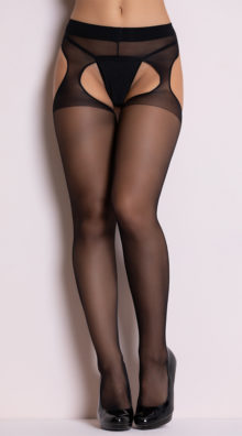 Photo of Sheer Suspender Style Pantyhose @EX4.NL Exclusive Lingerie