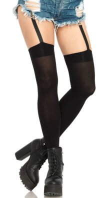 Photo of Opaque Thigh Highs with Garter Straps @EX4.NL Exclusive Lingerie