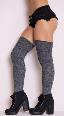 Photo of Grey Good Girl Thigh High Stockings @EX4.NL Exclusive Lingerie