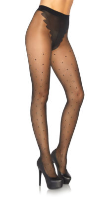 Photo of Sheer French Cut Polka Dot Pantyhose @EX4.NL Exclusive Lingerie
