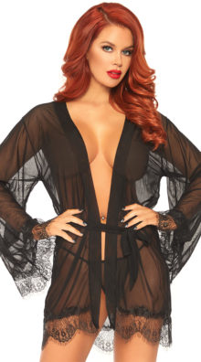 Photo of Sheer Showstopper Robe Set @EX4.NL Exclusive Lingerie
