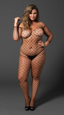 Photo of Plus Size Fence Net Bodystocking @EX4.NL Exclusive Lingerie