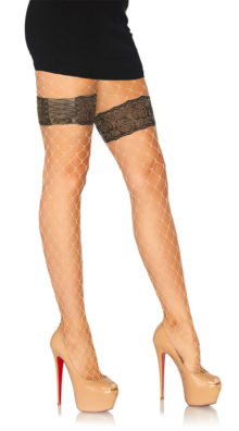 Photo of Faux Garter Diamond Net Tights @EX4.NL Exclusive Lingerie