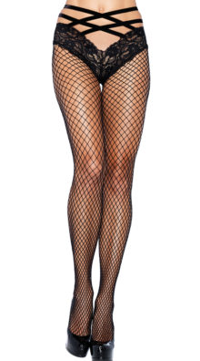 Photo of Net Pantyhose with Lace Cage Panty @EX4.NL Exclusive Lingerie