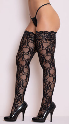 Photo of Stay-Up Floral Lace Thigh Highs @EX4.NL Exclusive Lingerie