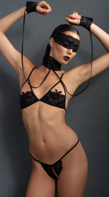 Photo of Sexy Submissive Four Piece Set @EX4.NL Exclusive Lingerie